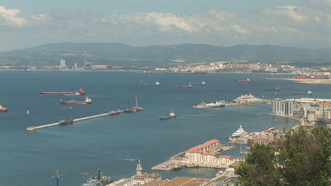 Ships from Gibraltar Footage