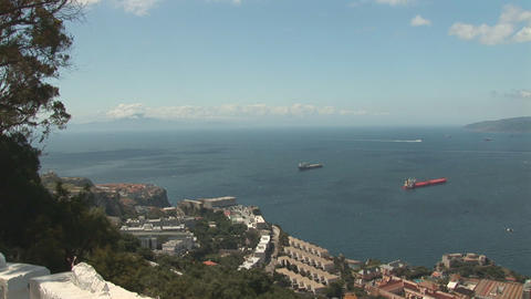 Strait of Gibraltar Stock Video Footage