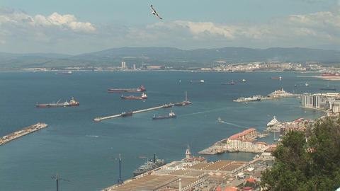 Ships from Gibraltar Stock Video Footage