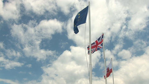 Flags on Gibraltar Footage