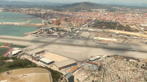 Gibraltar airport Stock Video Footage