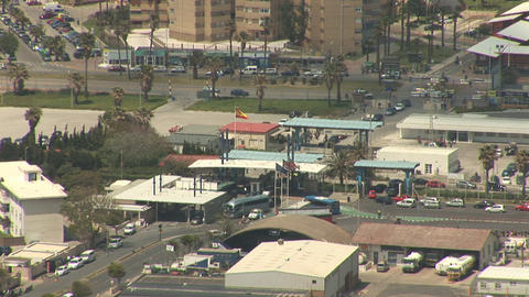Border crossing of Gibraltar Stock Video Footage