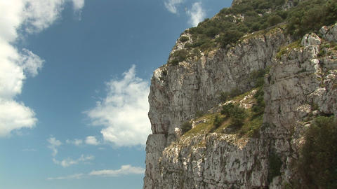 Detail of rock of Gibraltar Footage
