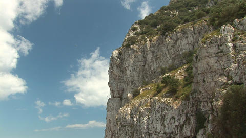Detail of rock of Gibraltar Stock Video Footage