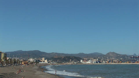 Beach of Malaga, Spain Stock Video Footage