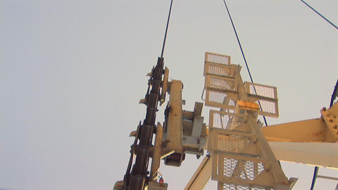 Cable car cable wheels Stock Video Footage