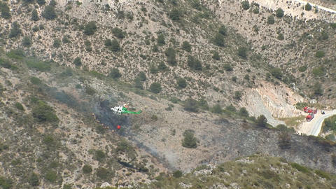 Fire helicopter Stock Video Footage