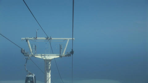 Cable car closeup top Stock Video Footage