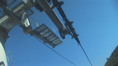 Cable car equipment top Stock Video Footage