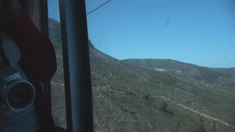 Couple in cablecar Footage