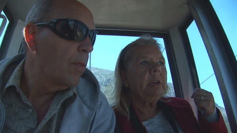 Couple in cablecar Stock Video Footage