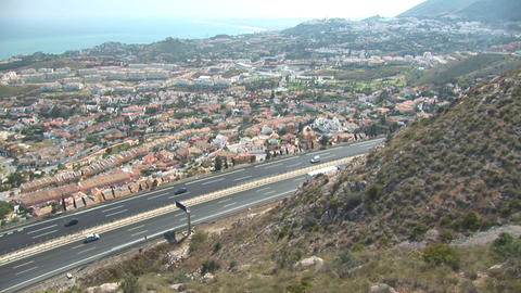 Highway in Spain Stock Video Footage