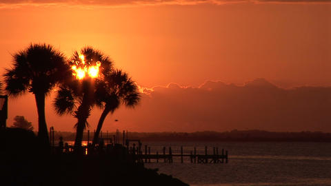 Indian River Morning stock footage