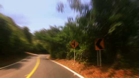 Countryside car trip 06 Footage