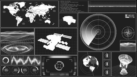 Military symbol 061 Stock Video Footage