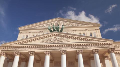 Bolshoi Theatre hyperlapse Stock Video Footage