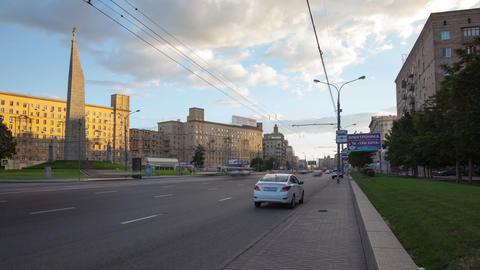 Kutuzovsky Prospekt hyperlapse 4K Stock Video Footage