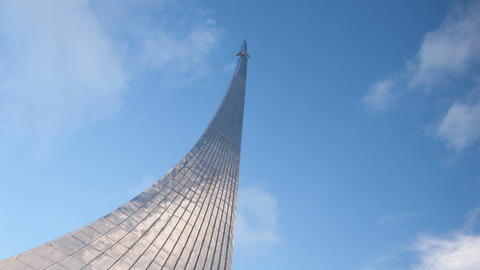 Monument to Conquerors of Space timelapse Stock Video Footage