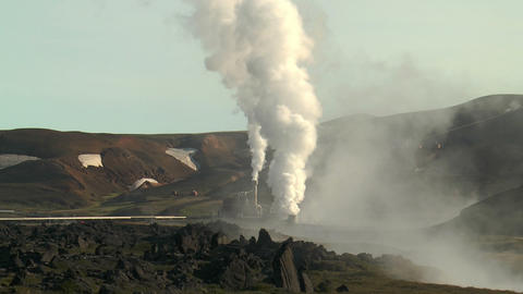 volcanic area at krafla power station Footage