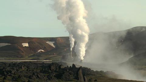 volcanic area at krafla power station Footage