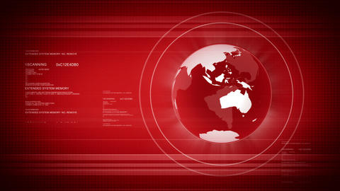 Digital World With Globe stock footage
