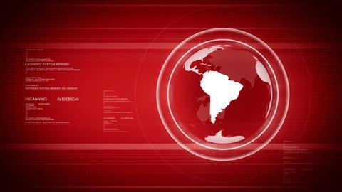 Digital world with Globe Stock Video Footage