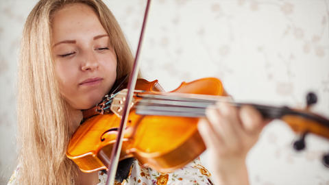 Violinist Stock Video Footage