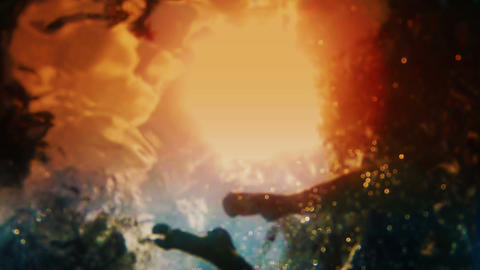 Underwater Sunlight stock footage