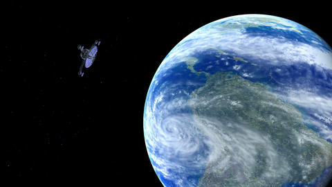 Satellite in open Space Stock Video Footage