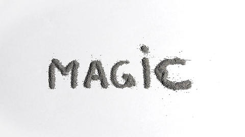 Magic And Dust Words stock footage