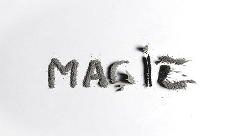 Magic and dust words Stock Video Footage