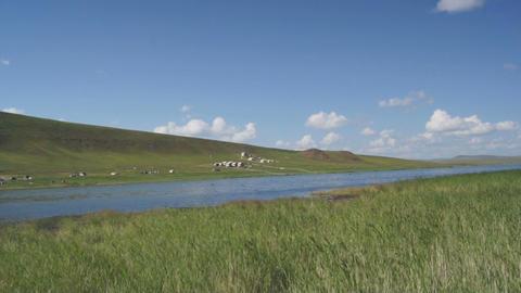 Khakassia Tus Lake 06 pan Stock Video Footage