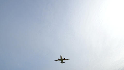 airplane landing wide runway light 11026 Stock Video Footage