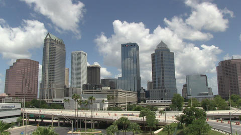 Tampa overview HD Footage