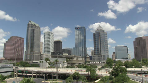 Tampa overview time lapse HD Stock Video Footage