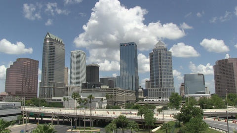 Tampa overview time lapse HD Footage