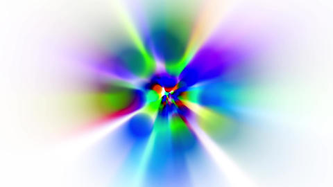 rainbow colors circle & rotate rays light as music background Animation