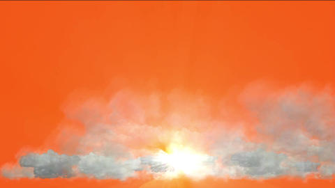 clouds & golden rays light in sky Animation