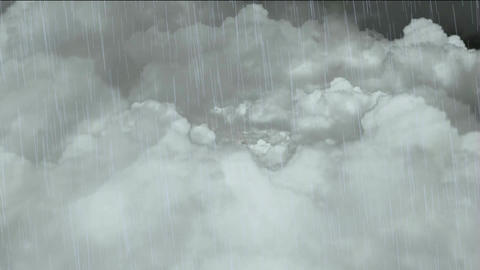 flying in cloud & falling rain Stock Video Footage