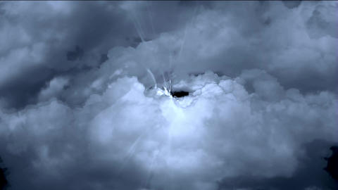flying in cloud & rays light Animation