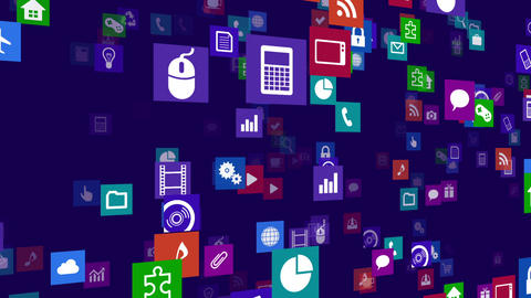 Smart Phone apps S Nb 3b 1 HD Stock Video Footage