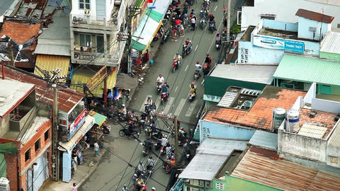 TRAFFIC IN VIETNAM - HO CHI MINH CITY Stock Video Footage