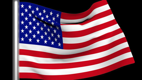USA Flag Animation Stock Video Footage