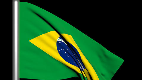 Brazil Flag Animation Stock Video Footage