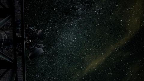 radio telescope listening stars time lapse 11035 Stock Video Footage