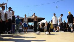 B-Boying crews warmup Stock Video Footage