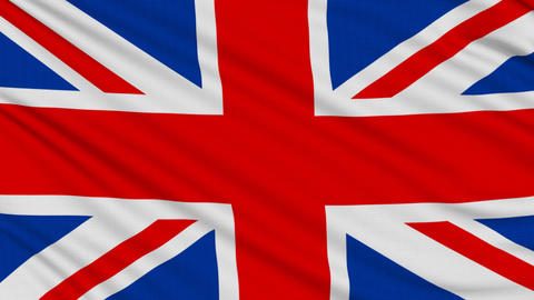 English flag, with real structure of a fabric Stock Video Footage