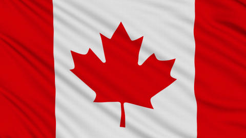 Canada flag, with real structure of a fabric Stock Video Footage