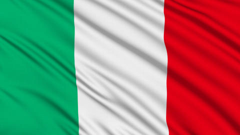 Italian flag, with real structure of a fabric Stock Video Footage