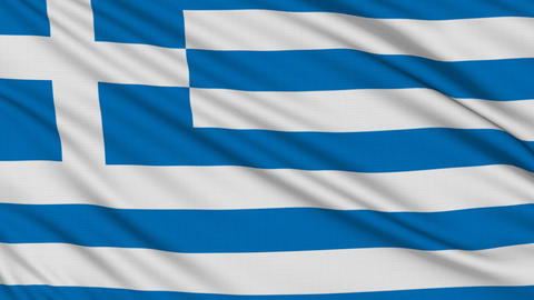 Greek flag, with real structure of a fabric Stock Video Footage